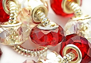 Red And White Bracelet Stock Photography - Image: 22184822