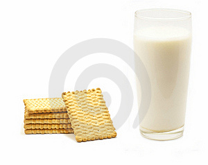 A Glass Of Milk And Biscuits Royalty Free Stock Image - Image: 22185566