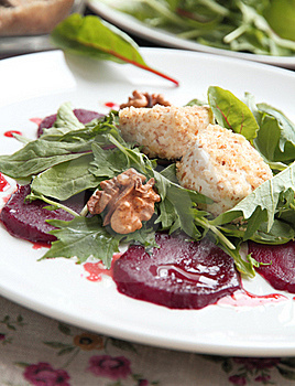 Salad With Beet And Goat Cheese Stock Image - Image: 22188461