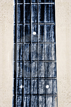 Acoustic Guitar Neck Fingerboard Stock Images - Image: 22190984