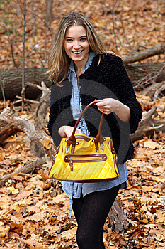 Searching The Purse Royalty Free Stock Images - Image: 22192669