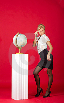 Sexy Young Woman Teacher Royalty Free Stock Image - Image: 22193416
