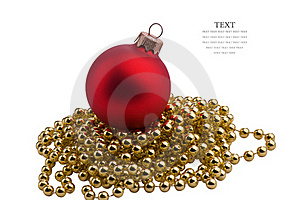 Christmas Red Sphere Royalty Free Stock Photo - Image: 22199025