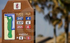 GolfbanaYardagemarkör Royaltyfri Foto - Bild: 2223885
