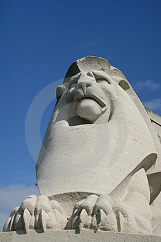 Sculpture Of King Lion Stock Photo - Image: 2226660