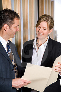 Looking at files Royalty Free Stock Photo