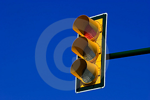 Red trafic light Free Stock Images