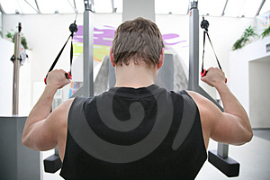 Behind gym man Stock Images
