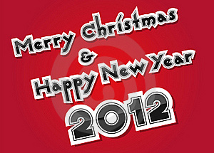 Merry Christmas And Happy New Year Stock Images - Image: 22205154