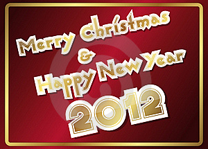 Merry Christmas And Happy New Year Stock Image - Image: 22205191