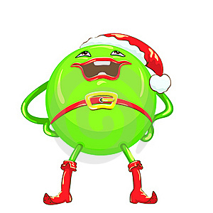 Vector Cartoon Funny Round Green-colored Monster Stock Image - Image: 22205261