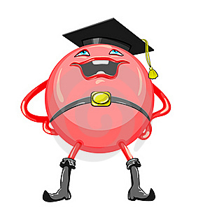 Vector Cartoon Funny Round Red-colored Monster Stock Photography - Image: 22205672