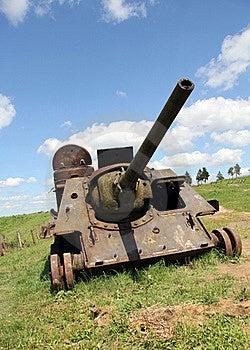 Rusty War And Peaceful Sky Stock Photos - Image: 22215573
