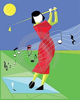 Leka Golf Like En Melodi Royaltyfria Foton - Bild: 22223428