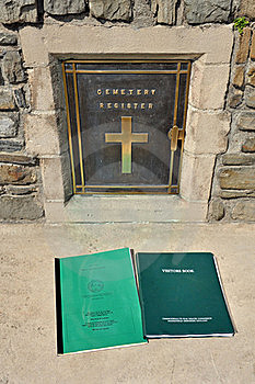 War Grave Visitors Book Royalty Free Stock Photography - Image: 22231227