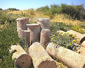 Pile Of Broken Roman Columns Royalty Free Stock Photos - Image: 22233808