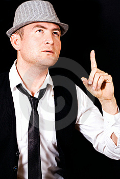 Thinking Young Business Man Royalty Free Stock Image - Image: 22234886