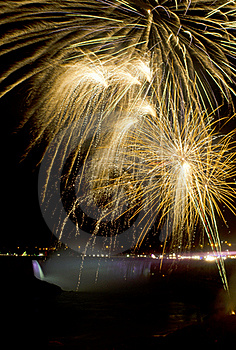Fireworks Over Niagara Falls Stock Images - Image: 22241024