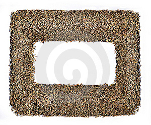 Photo Frame Construction Of Dry Herb Royalty Free Stock Photography - Image: 22245817