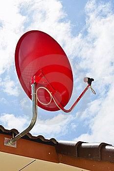 Red Satellite Dish Royalty Free Stock Images - Image: 22246059