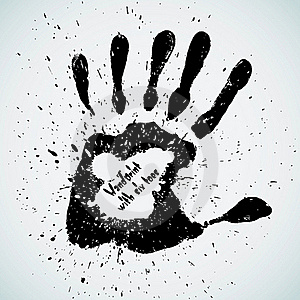 Handprint With Six Toes Stock Photos - Image: 22248783