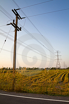 Electricity Pole Royalty Free Stock Photography - Image: 22250197