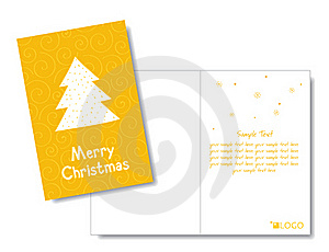 Christmas Card Design Template Royalty Free Stock Photo - Image: 22252565
