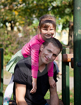 Father And Daughter Having Fun Royalty Free Stock Image - Image: 22252916