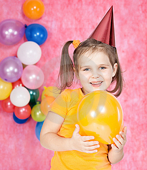 Girl With Balloons Royalty Free Stock Images - Image: 22257659
