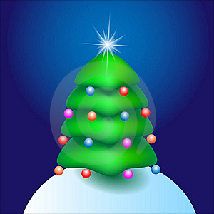 Cartoon Tree With Star Royalty Free Stock Images - Image: 22260999