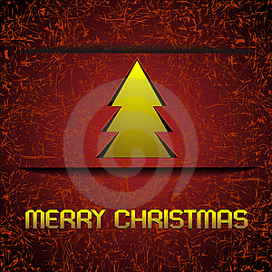 Gold Christmas Tree Royalty Free Stock Images - Image: 22261079