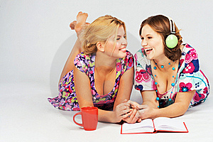 Two Lovely Friends Having Fun Together Royalty Free Stock Images - Image: 22262739
