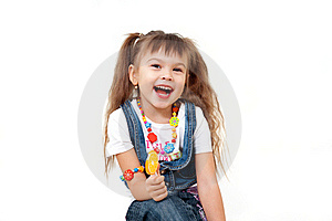 Laughing Pretty Girl With Lollipop Royalty Free Stock Photos - Image: 22265268