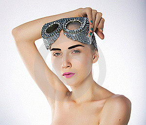 Supermodel Female In Swimmer Goggles Royalty Free Stock Photo - Image: 22266105