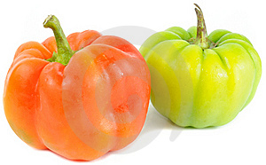 Red And Green Bell Peppers Stock Image - Image: 22270271