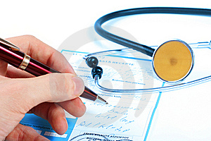 Doctor Write Prescription Royalty Free Stock Images - Image: 22271229