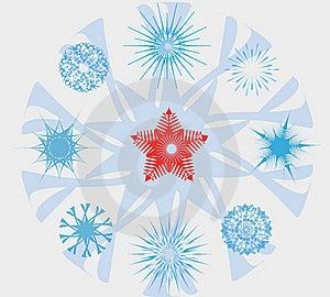 Snowflakes And Christmas Star Stock Image - Image: 22275031