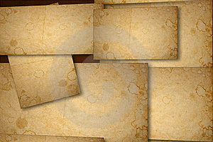Stained Paper Background On Multiple Planes Royalty Free Stock Photos - Image: 22275468