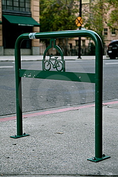 Vintage Bike Rack In Old Folsom CA Royalty Free Stock Image - Image: 22281076