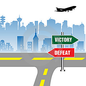 Victory And Defeat Stock Photo - Image: 22287130
