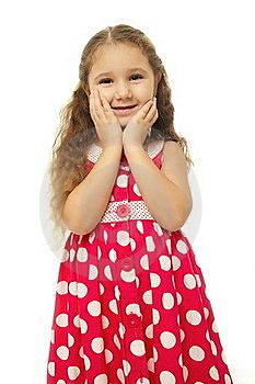 Portrait Of A Pretty Little Girl In Pink Dress Royalty Free Stock Photography - Image: 22294907