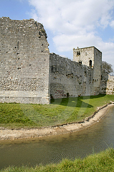 Castle Wall And Moat Stock Photos - Image: 2233583