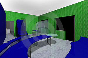 3D Rendering Of An Office Royalty Free Stock Photos - Image: 2238498