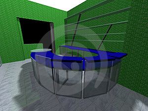 3D Rendering Of An Office Stock Images - Image: 2238504