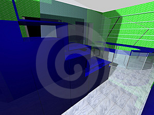 3D Rendering Of An Office Royalty Free Stock Photos - Image: 2238528