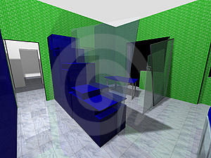 3D Rendering Of An Office Stock Photography - Image: 2238532