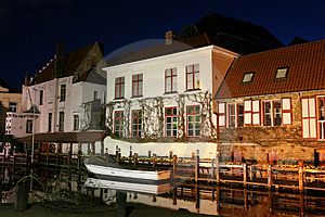 Bruges By Night Royalty Free Stock Photos - Image: 2239528