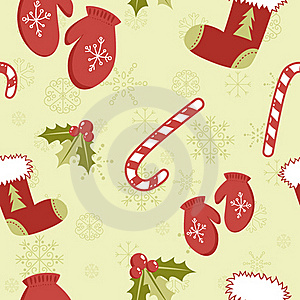 Seamless Pattern With Cute Cartoon Red Stocking Stock Photos - Image: 22300823