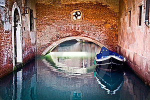 Europe Flag Covering A Lonely Boat On Water Royalty Free Stock Photos - Image: 22303988