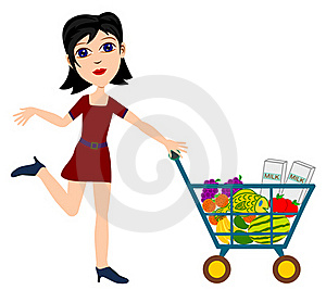 Shopping Girl Stock Images - Image: 22307474